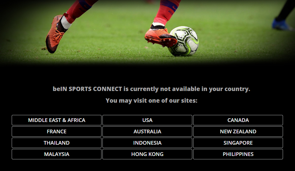 beIn sports not available