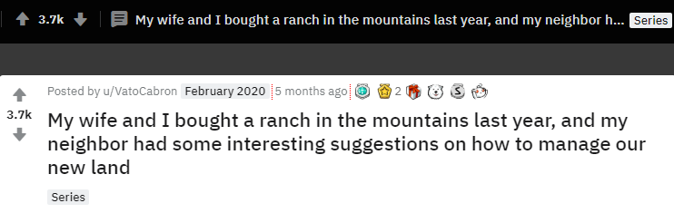 rnosleep my wife and i bought a ranch
