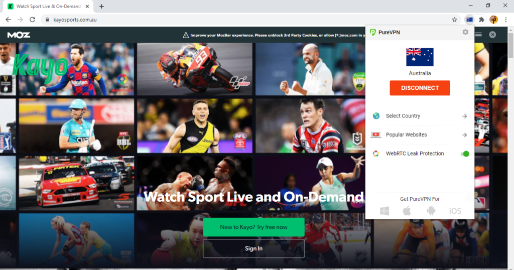 PureVPN-unblocks-Kayo-Sports-outside-Australia