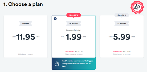 surfshark-pricing-plans