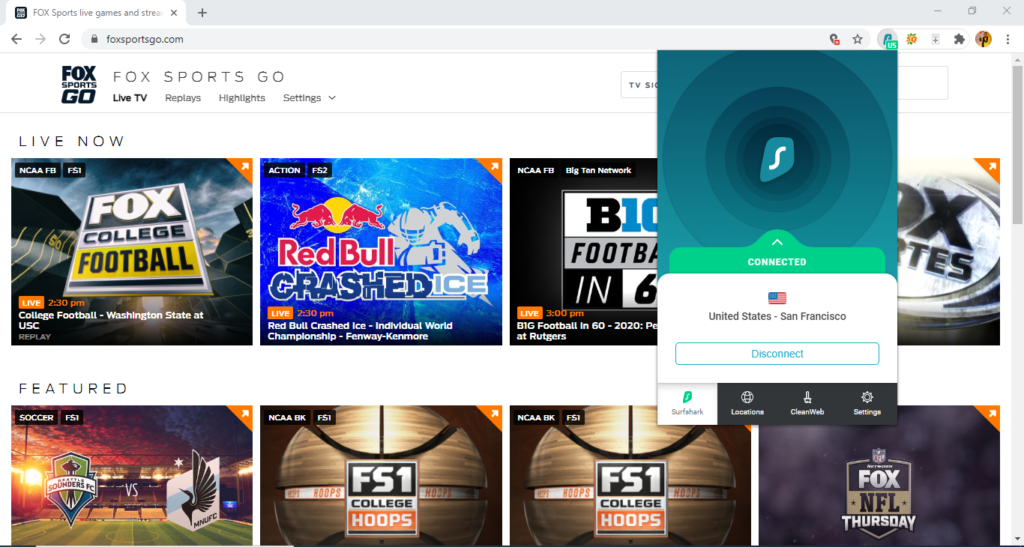 surfshark-unblocks-fox-sports-go