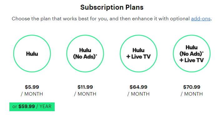 hulu-packages