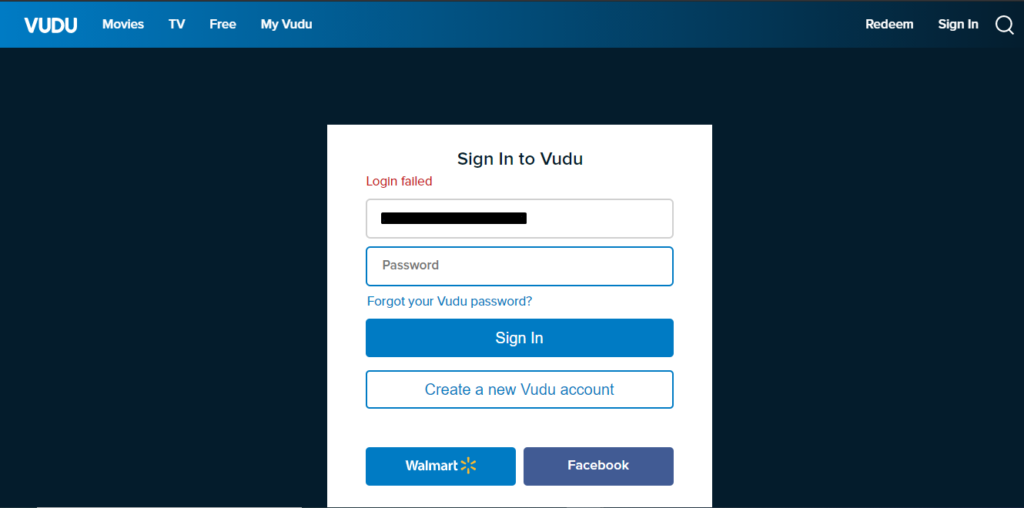 vudu-login-failed-error