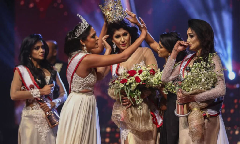 Mrs. Sri Lanks Gets Her Crown Snatched by Mrs. World Over Divorce Claims