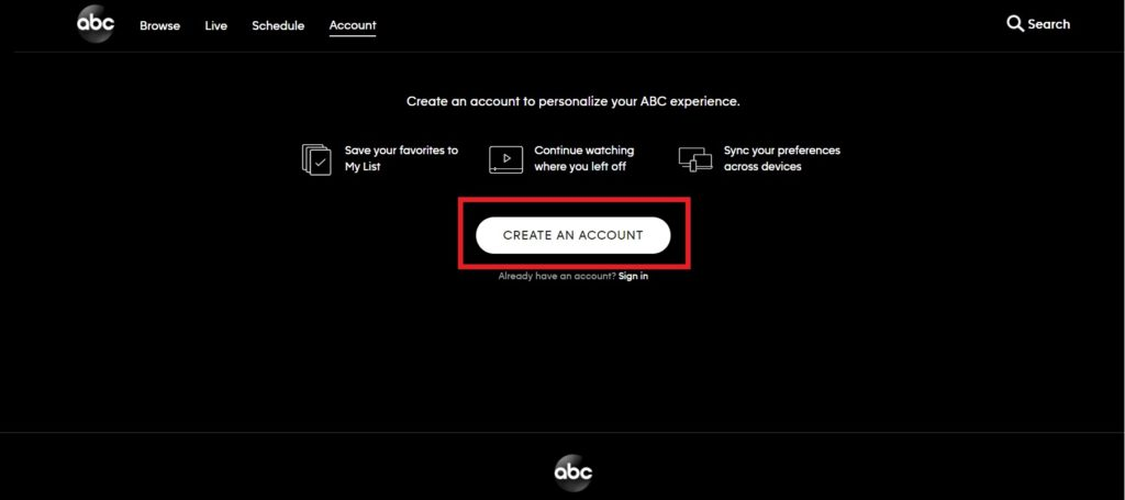 click-on-abc-account