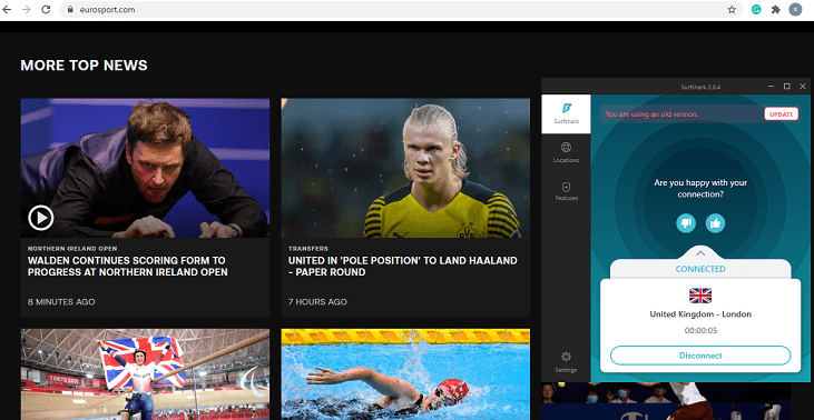 Surfshark-unblock-Eurosport