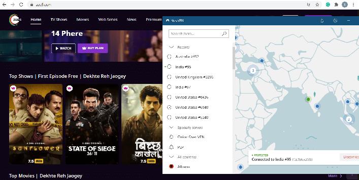 ZEE5-NordVPN-screenshot-uk